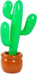 Groene Partywinkel Opblaas Cactus - 92 cm