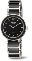 Boccia Titanium 3311.02 horloge Keramiek Zwa Dames