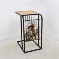 LOFT42 Woody Bijzettafel met tijdschriftenbak zwart - Metaal - Mangohout