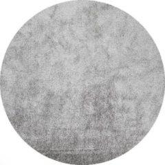 Fraai Rond hoogpolig vloerkleed - Glazy licht grijs Ø 200cm