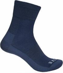 Marineblauwe GripGrab Merino Lightweight SL Sock Fietssokken Unisex - Maat L