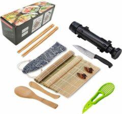 Sushi Bazooka Zwart - Sushi maker - Zelf Sushi maken kit - XXL Sushi Set - Milieuvriendelijk - Lifetools