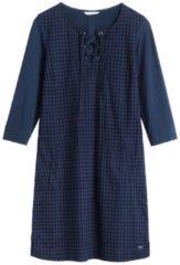 Kleid mit Schnürverschluss sandwich Navy