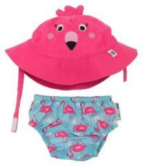 Roze One size - Zoocchini zwemsetje Franny the Flamingo maat 0-6 maanden (small)
