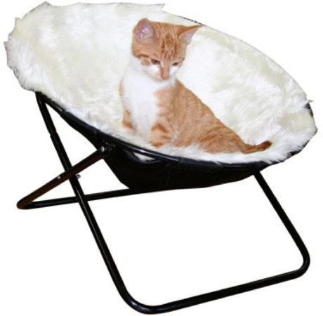 Afbeelding van Witte Kerbl Katten Slaap-klapstoel - Wit - Ø 50 cm