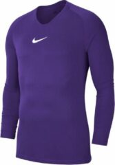 Nike Park Dry First Layer Longsleeve Thermoshirt - Maat XL - Mannen - paars/wit