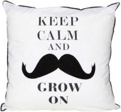 Cosy&Trendy Cosy & Trendy Mustache Kussen - Vierkant - 40 cm x 40 cm