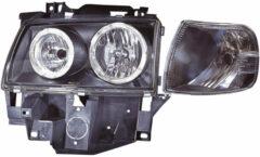Universeel Set koplampen + knippelrichten Volkswagen Transporter T4 1990-1995 - Zwart + LED Cell-Rim
