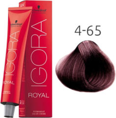 Rode Schwarzkopf Professional Schwarzkopf - Igora - Royal - 4-65 Middelbruin Roodbruin Goud - 60 ml