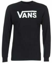 Zwarte Kleding MN VANS CLASSIC LS Black/White by Vans
