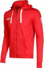Patrick Sprox Sweater Met Rits - Rood   Maat: L