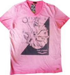 Pme legend roze t-shirt slim fit - Maat XL