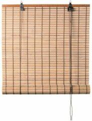 Xenos Rolgordijn bamboe - lichtbruin - 60x130 cm