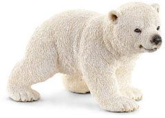 Witte Schleich Ijsbeerjong lopend 14708 - Ijsbeer Speelfiguur - Wild Life - 6,5 x 4 x 4 cm