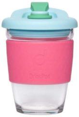 Roze Set van 2 - Herbruikbare Koffiebeker - 340ml - Laguna Rosa - Glas - Pioneer