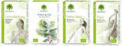 Neuner's - Detox thee + Figuur thee + Ontgiften + activerende Groene Mate thee, 4 doosjes Biologische kruidenthee pakket, goed voor 40 liter thee