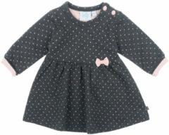 Antraciet-grijze Feetje jurk AOP - Dots|Antraciet melange|MT. 68