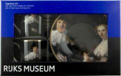 Bruine Lanzfeld (museumwebshop.com) Espresso set, Rembrandt, Marten en Oopjen, Rijksmuseum