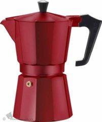 Rode Bialetti Voccelli Moka Express - koffiepotje - caffettiera - 3 kopjes - Rood