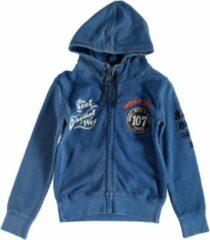 Blauwe Indian Blue Jeans Indian blue sweatvest hoodie in denimlook Maat - 98