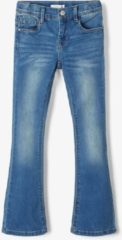 Blauwe Name it Skinny Bootcut Polly Spijkerbroek - Medium Blue Denim - Maat 122