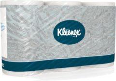 Toiletpapier Kleenex 3-laags, pak van 6 rollen, 350 vellen per rol, wit
