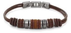 Zilveren Fossil Vintage Casual Heren Armband JF00900797