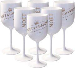 Moet & Chandon Moët & Chandon ice champagneglazen - Acryl - 6 stuks - Wit
