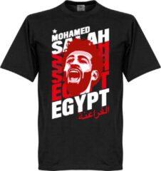 Zwarte Retake Salah Egypte Portrait T-Shirt - S