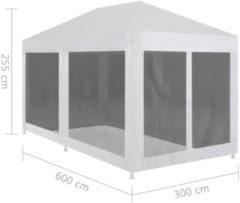 Zwarte VidaXL Partytent met 6 mesh zijwanden 6x3 m