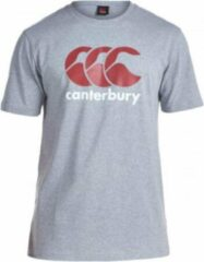 Canterbury Shirt Logo Heren Katoen Grijs/rood/wit Maat M