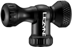 Zwarte Lezyne Control Drive CNC CO2 Pump Head, glossy black