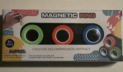Rode NoStressKids 2x Magnetic Rings 6 stuks-Fidget-Magnetische Ringen-Finger Trucks- Tik Tok
