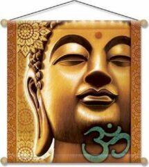 Yogi & Yogini Meditatie banner Gouden Boeddha - 37.5x37.5 - Polyester