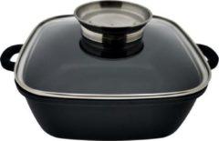 Zwarte Frico Luxe Aluminium Kookpan met Deksel - Ø 20 cm - 2,8 liter
