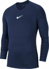 Marineblauwe Nike Park Dry First Layer Longsleeve Thermoshirt - Maat XXL - Mannen - navy/wit