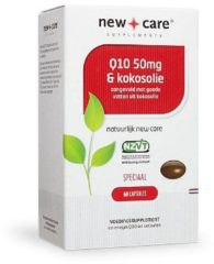 New Care Q10 & Kokosolie Speciaal - 50 mg - 60 capsules - Voedingssupplement