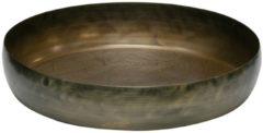 Gouden BePureHome Dienblad Notch antique brass metaalø44cm