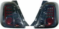 Universeel Set LED Achterlichten Fiat 500 2007- - Smoke