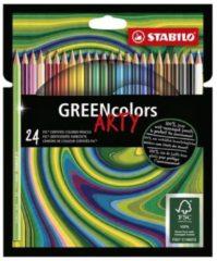 Groene Kleurpotloden STABILO Greencolors 6019/24-1-20 etui à 24 stuks