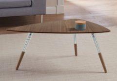 Andas Design Couchtisch »stick« mit Chromdetail an den Beinen