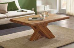 Henke Möbel Couchtisch Eiche-Altholz mit Baumkante 110 x 70 cm