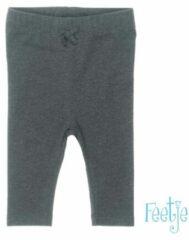 Feetje! Meisjes Legging - Maat 80 - Donkergrijs - Katoen/polyester/elasthan