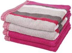 Rosa SEASTAR Handtuch, 4er-Set, pink, 50x100cm