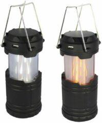 Zwarte POWERplus Koala LED Camping Lantaarn Powerbank met 2 lichtstanden vlameffect en helder wit licht