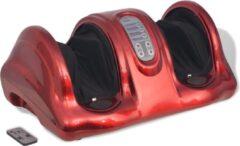VidaXL Shiatsu voetmassageapparaat rood