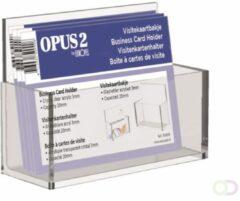 VISITEKAARTHOUDER OPUS 2 ACRYL - geschikt voor kaartformaat HxB 55x95mm - helder transparant acryl - ideaal voor het presenteren van visitekaartjes