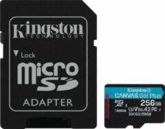 Zwarte Kingston Technology Canvas Go! Plus flashgeheugen 256 GB SD Klasse 10 UHS-I