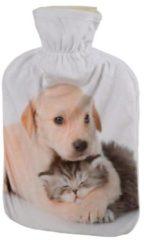 Beige Wärmflasche Welpe & Kätzchen, 2 l Füllmenge