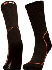 2-Pack UphillSport Coolmax Wandelsokken voor droge voeten 8385.399 - zwart/roze - Unisex - Maat 35-38
